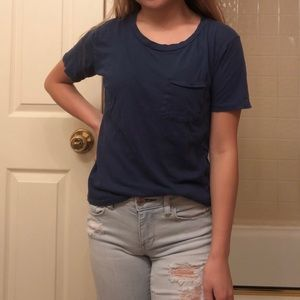 J.Crew Blue Pocket-Tee